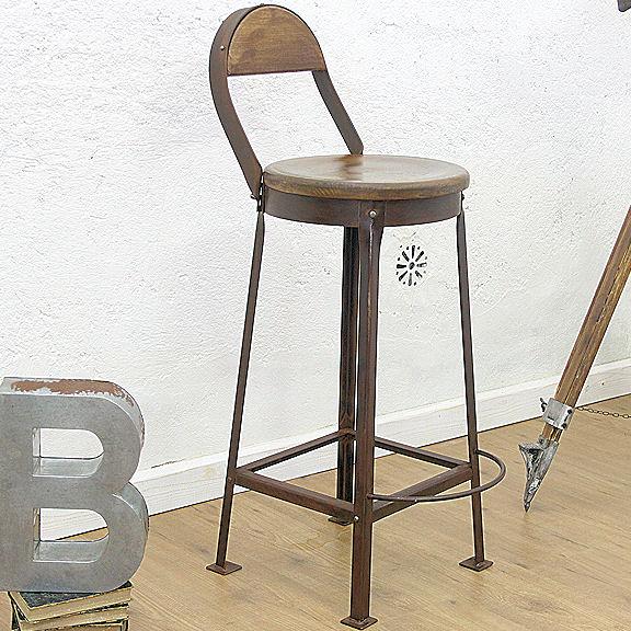 Sgabello industriale vintage design casa creativa e for Mobili industriali vintage