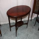 Tavolino piuma di mogano