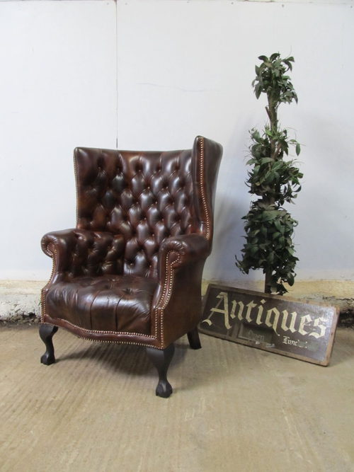 Poltrone Chesterfield Vintage.Poltrona Chesterfield Usata